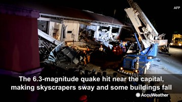 Rescuers search for survivors after powerful earthquake