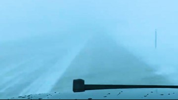 Dangerous driving conditions close roads in North Dakota
