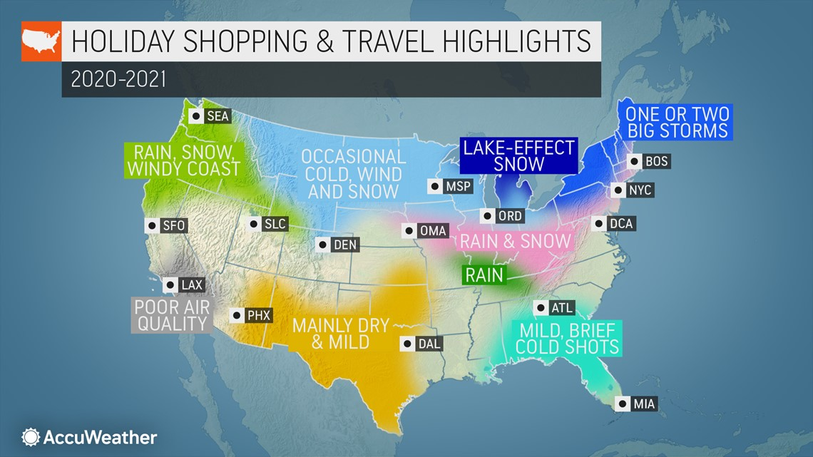 Chance Of White Christmas Map 2021 What Are The Chances For A Stormy Thanksgiving And White Christmas In The Us Wusa9 Com