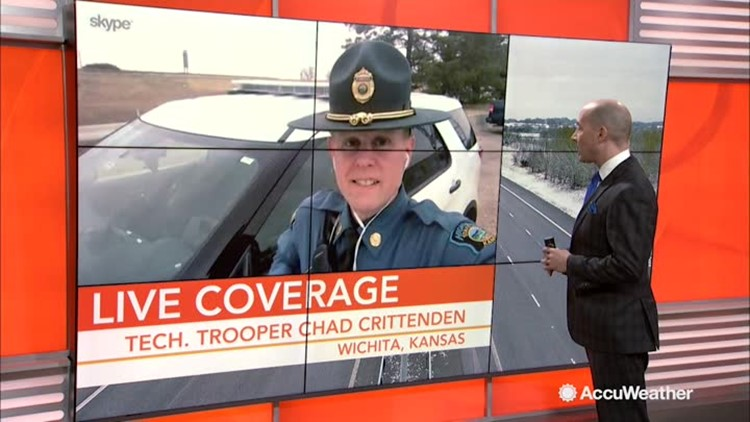 Kansas state trooper speaks about upcoming storm