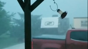 Wild storm rocks South Texas