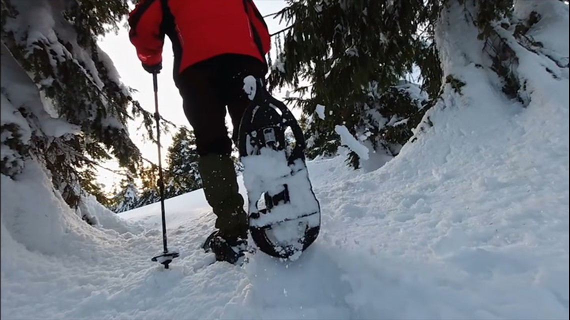Snowshoeing experiences a boost in popularity this winter