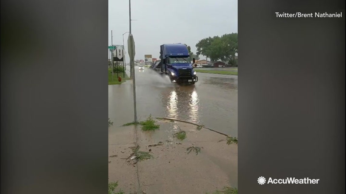 Watertown lives up to its name following torrential downpour