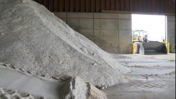 Road salt in decent surplus this winter
