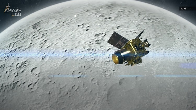 India Spacecraft Enters Moon's Orbit to Prep for Landing Attempt