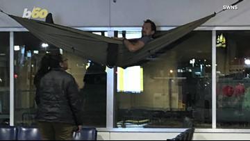 Hammock Havoc! Man Caught Sleeping In Hammock At The Airport!