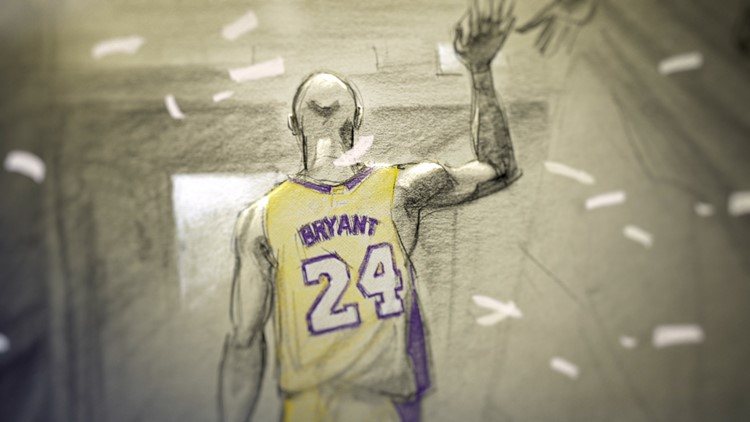 Kobe Bryant Dear Basketball walking off