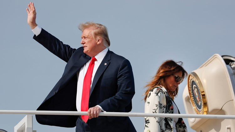 Trump waves goodbye after Mueller report April 18