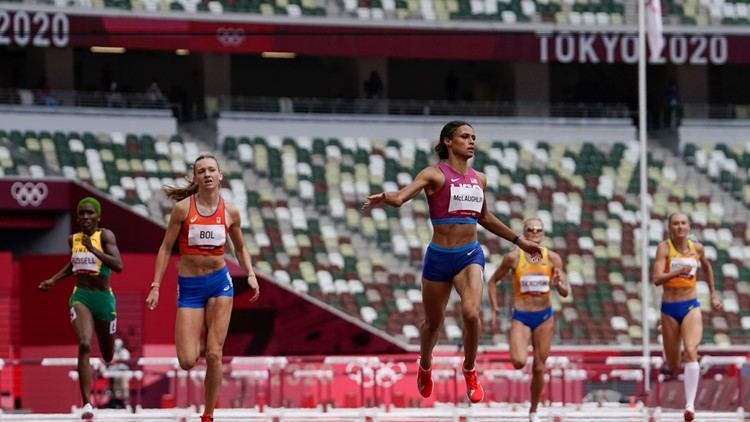 American Sydney McLaughlin sets world record in Olympic 400m hurdles final