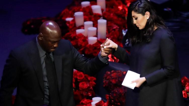 Michael Jordan helps Vanessa Kobe Bryant Memorial Basketball