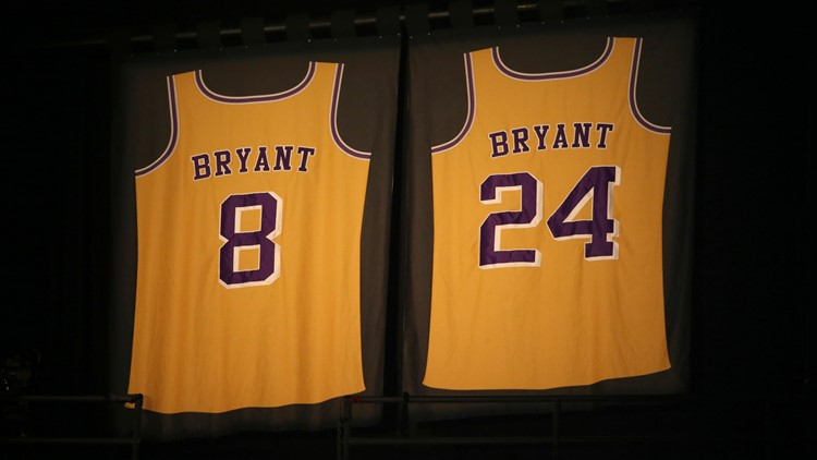 Kobe Bryant jersey Staples Center