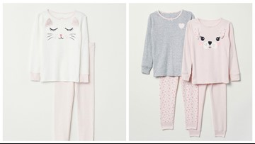 H&M children's pajama tops recalled for flammability hazard