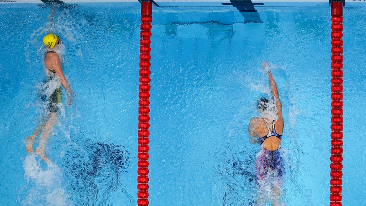 Bethesda native Katie Ledecky wins silver behind Australia's Titmus in women's 400m freestyle
