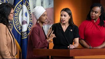 Trump digs in against Dem congresswomen; they're firing back