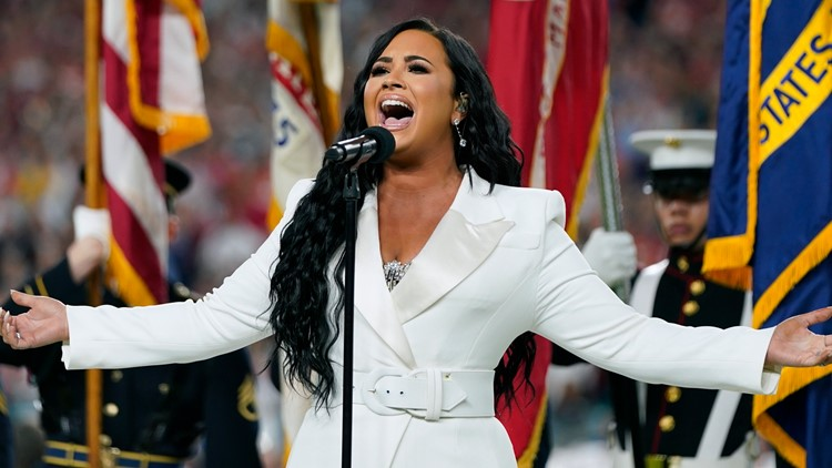 Demi Lovato anthem 49ers Chiefs Super Bowl Football