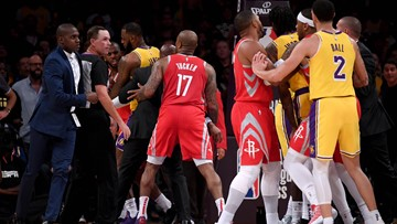 NBA suspends Rajon Rondo, Chris Paul and Brandon Ingram for Lakers-Rockets brawl