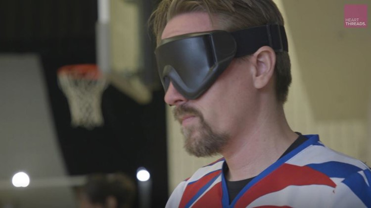 Kurt Sloop goalball goggles