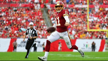 Alex Smith carted off from Redskins' game vs. Texans with ankle injury
