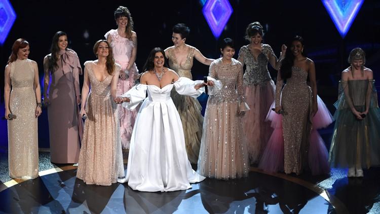 Idina Menzel with Elsas worldwide 92nd Academy Awards - Show AP