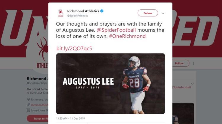 'A true tragedy': University of Richmond football player Augustus 'Gus' Lee dies