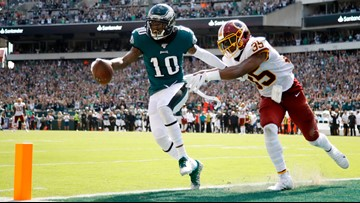 Jackson shines in Philly return, Eagles beat Redskins 32-27