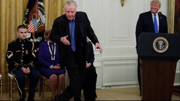 Trump awards medals to Jon Voight, Alison Krauss and others