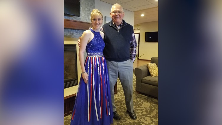 Teen honors fallen soldiers with special prom dress