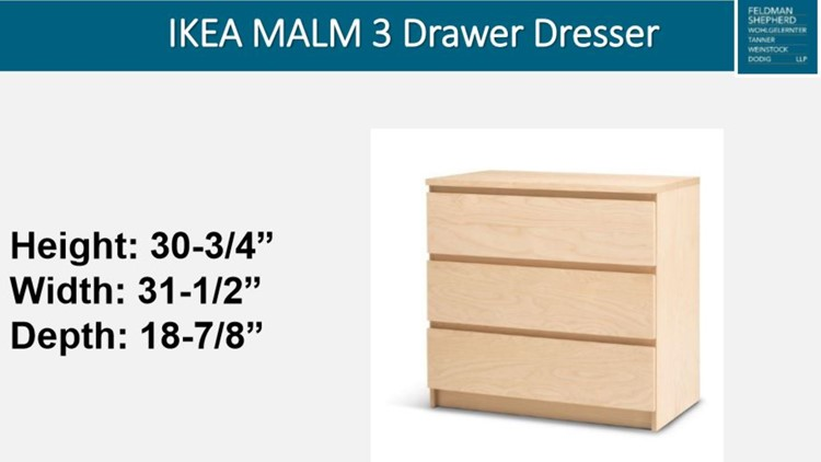 IKEA Malm 3 recalled dresser