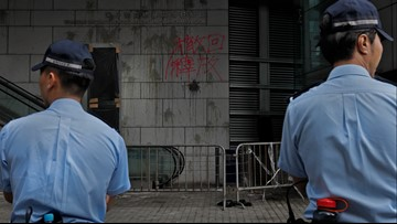 Hong Kong protesters disperse after blocking police HQ