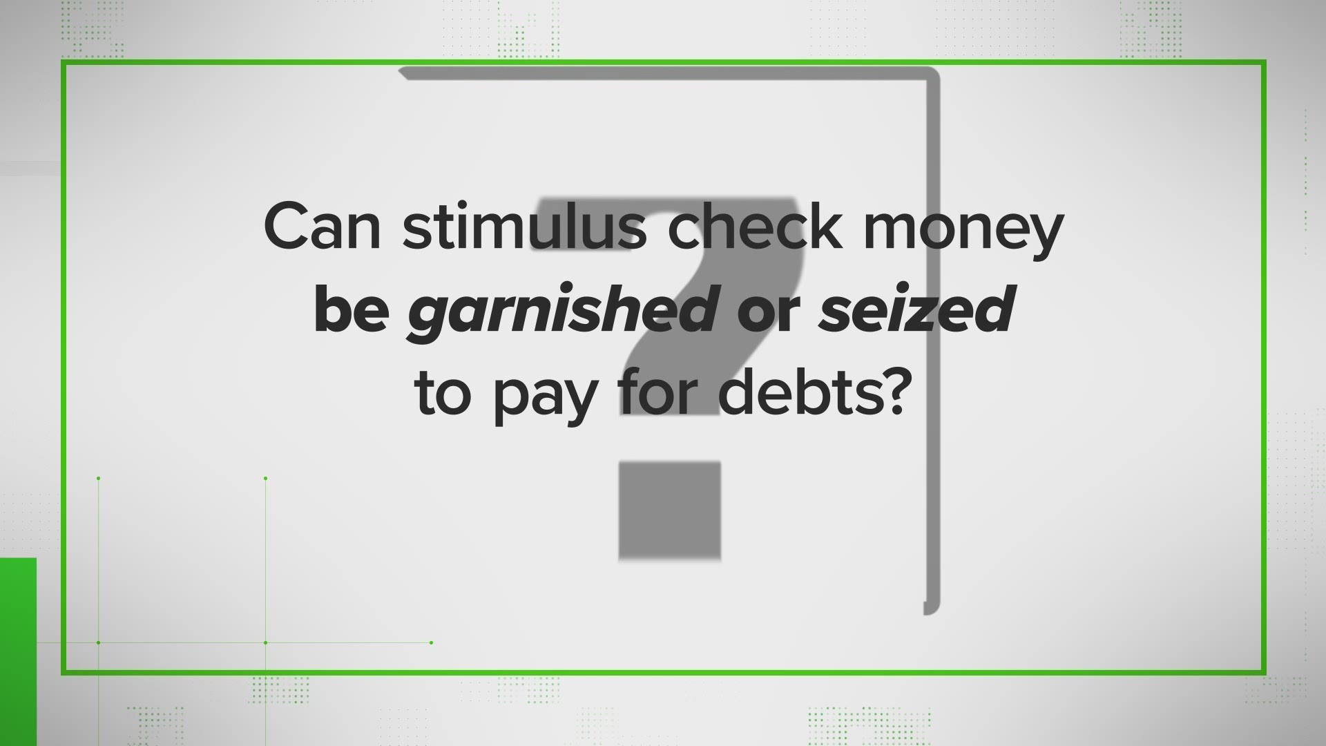 Verify Will I Have To Pay To Get The Money Answering More Of The Top Stimulus Check Questions Wusa9 Com That depends on whether you gave the irs your direct the irs will also send stimulus check recipients a confirmation letter 15 days after the payment was sent. verify can stimulus check money be garnished answering the most asked questions