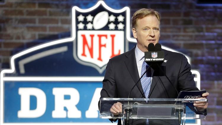 NFL Commissioner Roger Goodell speaks at NFL Draft Football 2019