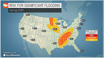 Tumultuous weather pattern to renew river flooding fears in U.S.