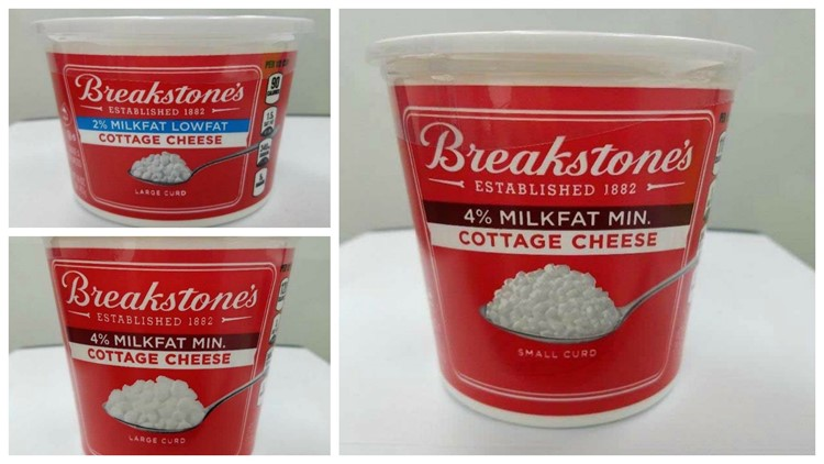 Cottage cheese that may have metal and plastic pieces recalled