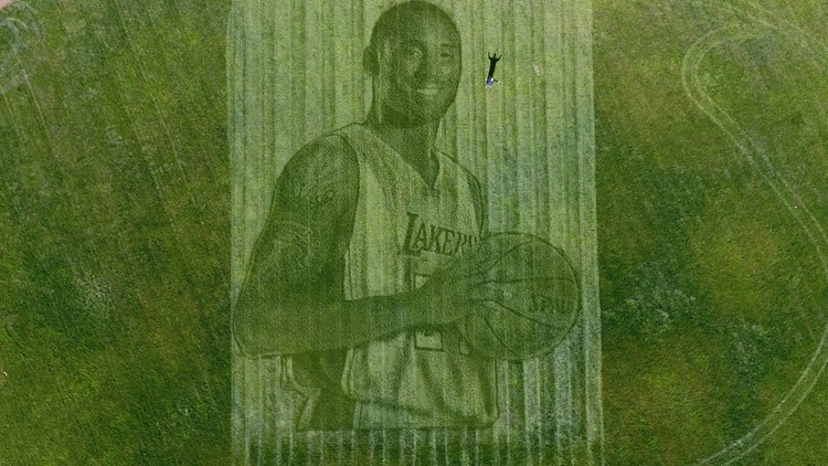 Kobe Bryant grass tribute California