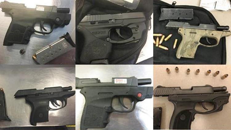 TSA confiscated handguns