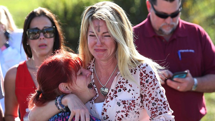 School Shooting Florida Photo mothers Boyle Rush