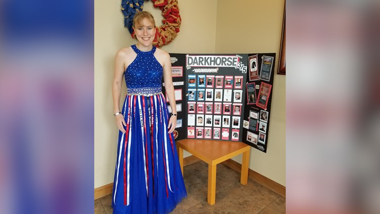Prom dress honors soldiers