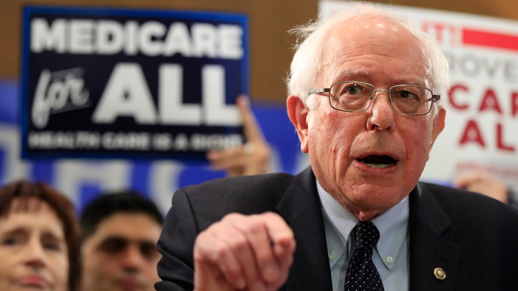 Election 2020 Medicare for All Bernie Sanders AP