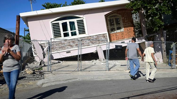 Puerto Rico Earthquake home partial collapse January 6 AP