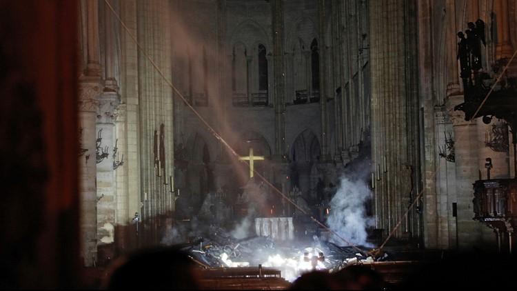 France Notre Dame Fire (via AP)