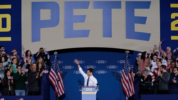 Election 2020 Pete Buttigieg April 14 2019 Rally AP