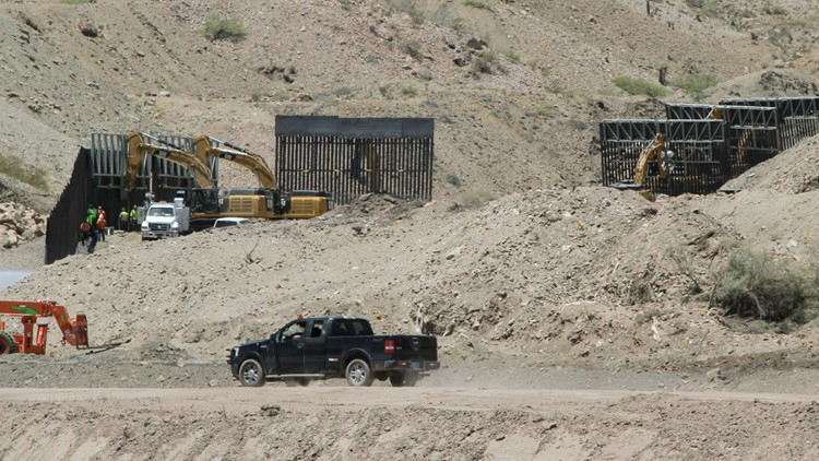 Construction workers at Border Wall Fundraiser