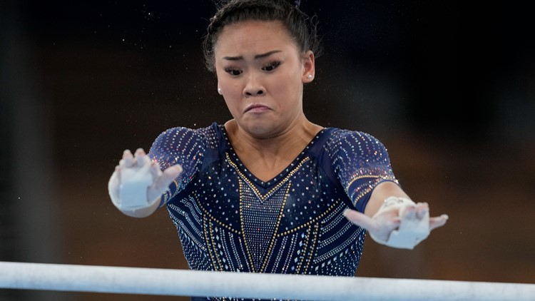 Olympic champion Suni Lee adds bronze on uneven bars