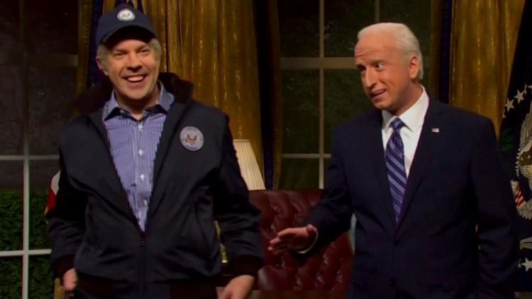 'Saturday Night Live': Jason Sudeikis' 2012 Joe Biden Returns to Give Pep Talk to Current Day Biden