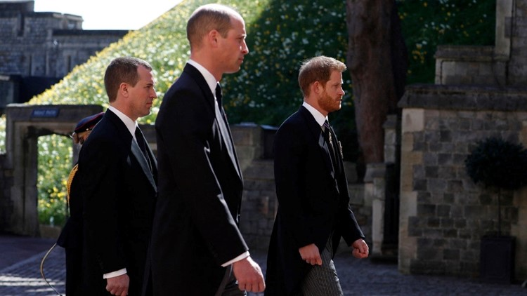 Prince Harry and Prince William Talk to One Another After Prince Philip's Funeral