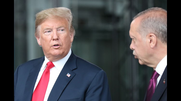 President Donald Trump will double tariffs on steel and aluminum from Turkey, as the nations argue about the fate of a US pastor imprisoned in Turkey.