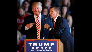 President Trump says 'good luck' to Michael Flynn on day of sentencing