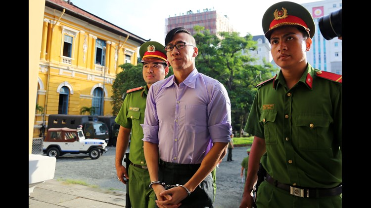 William Nguyen, from Houston, Texas, was arrested June 10 during protests in the southern commercial hub of Ho Chi Minh City against a proposed law on special economic zones that many say would benefit Chinese investors.