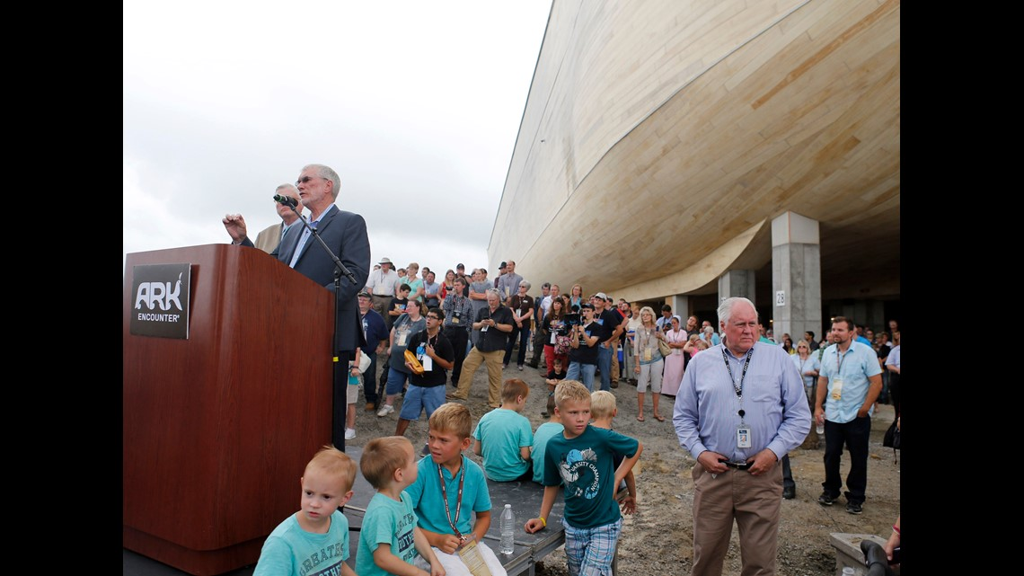 Visitation at the Ark Encounter religious theme park in Kentucky
