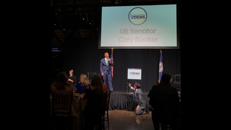 Cory Booker speaks to Virginia Democrats' gala
